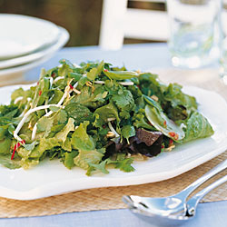 Fresh Leaf Salad with Asian Flavors